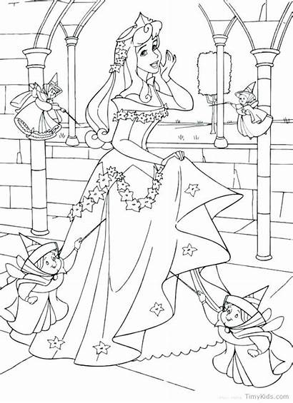 Coloring Pages Princess Disney Maleficent Cane Sleeping