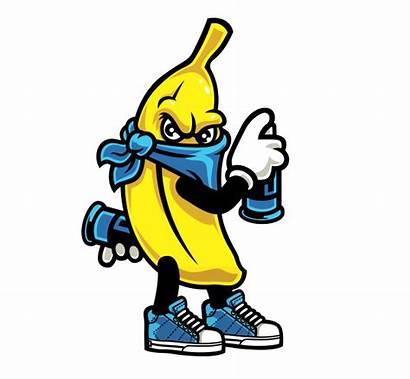 Graffiti Gang Fruit Cartoon Characters Street Sticker