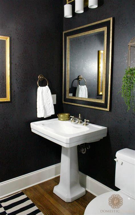 powder room powder room reveal domestic charm