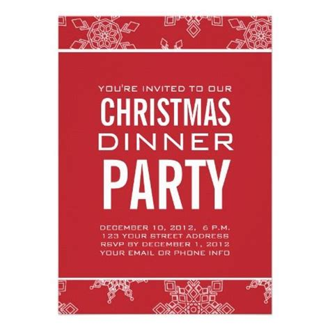free christmas dinner invitations snowflakes christmas dinner party invitation snowflakes