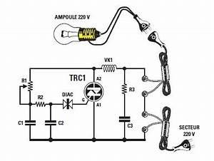 Lampe Variateur De Lumiere : schema et montage d 39 un variateur simple pour lampe 220 ~ Dailycaller-alerts.com Idées de Décoration