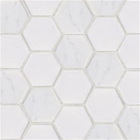 Hexagon Backsplash Tile Home Depot by Statuario Hex 12 In X 12 In X 8 Mm White Marble Mosaic
