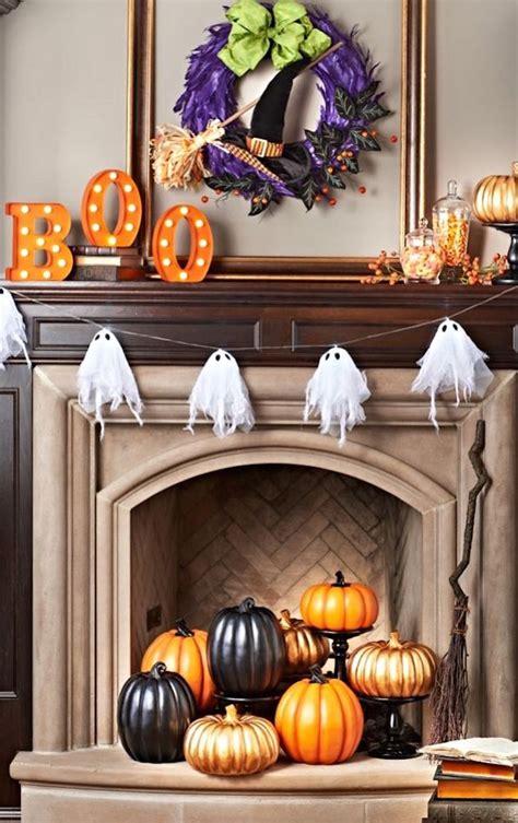 spooktacular halloween ideas   fireplace mantel