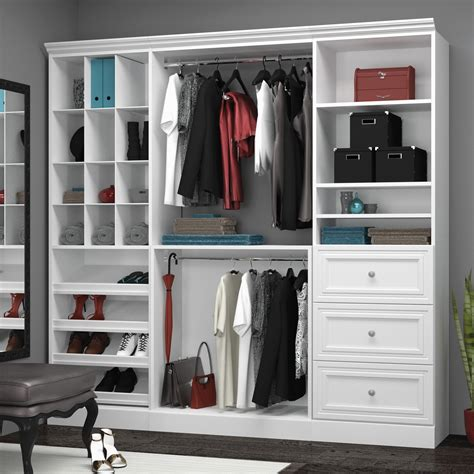 Wood Closet Organizer Kits by Versatile By Bestar 40853 86 In Classic Closet Kit Wood