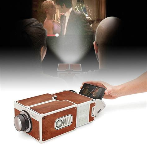 diy  projector cardboard mini smartphone projector light