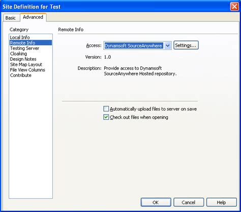 si e d inition dreamweaver in hosted sourcesafe vss replacement