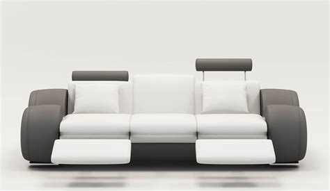 canape blanc design deco in 9 canape design 3 places cuir blanc et