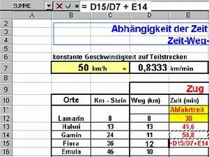 Weg Zeit Geschwindigkeit Berechnen : tabelle zeit weg abh ngigkeit bei konstanter geschwindigkeit ~ Themetempest.com Abrechnung