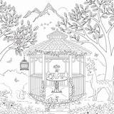 Coloring Gazebo Pages Adult Scrapbook Theme Customs Designlooter Paper Template 63kb 600px sketch template