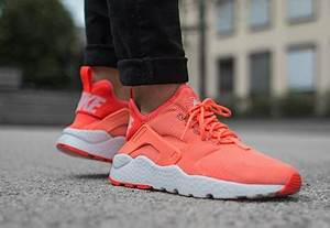 Nike Air Huarache Run Ultra W shoes red neon