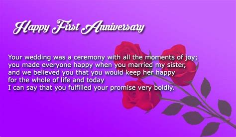 wedding anniversary wishes  sister  brother  law