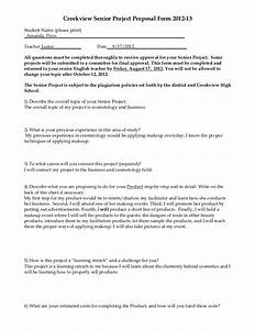 senior project proposal With senior project proposal template