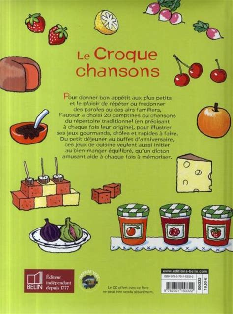 le jeux de cuisine livre le croque chansons 20 jeux de cuisine corinne