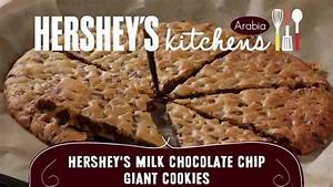 HERSHEY'S Milk Chocolate Chip Giant Cookies Recipe - YouTube