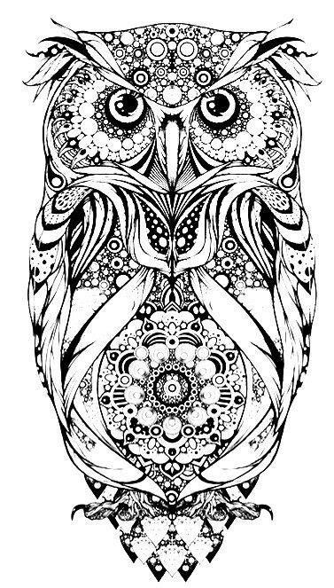 Pin by Dot McCleskey on Coloring for Adults | Owl coloring pages, Owl tattoo design, Drawings