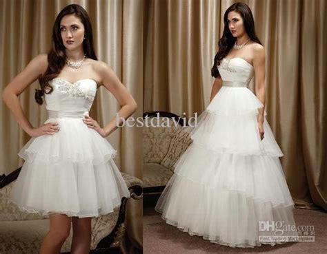 Cheap Two Piece Detachable Skirt Wedding Dress Ball Gown