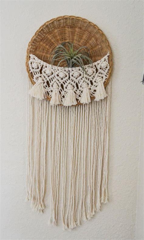 macrabasket wall hanging weaving macrame wall decor