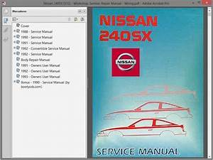 Nissan 240sx  S13  Service Manual    Repair Manual