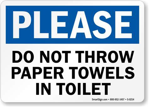 paper towels  toilet sign   sku