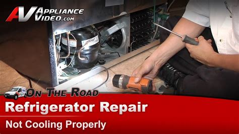 refrigerator repair diagnostic not cooling properly electrolux frigidaire plhs37egsb1