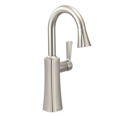 Bar Faucet Single by Moen Brantford Single Handle Pull Sprayer Bar Faucet
