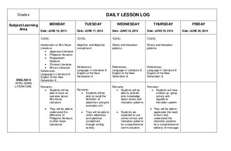 Daily Activity Log Template Word