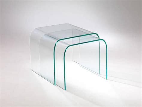 tavolino da salotto  vetro curvato tunnel due