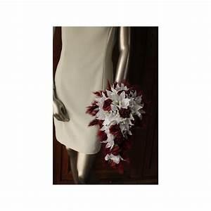 Bouquet De La Mariée : bouquet de mari e bordeaux re tombant avec lys roses ~ Melissatoandfro.com Idées de Décoration