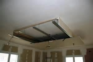 installation faux plafond home cinema faux