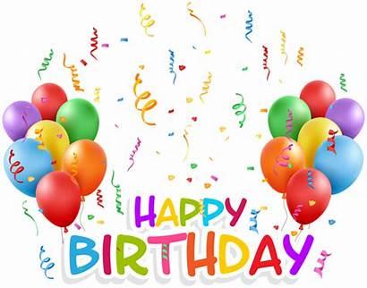 Birthday Happy Transparent Clip Clipart Confetti Baloons