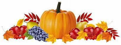 Autumn Fall Clipart Leaves Fruits Border Borders