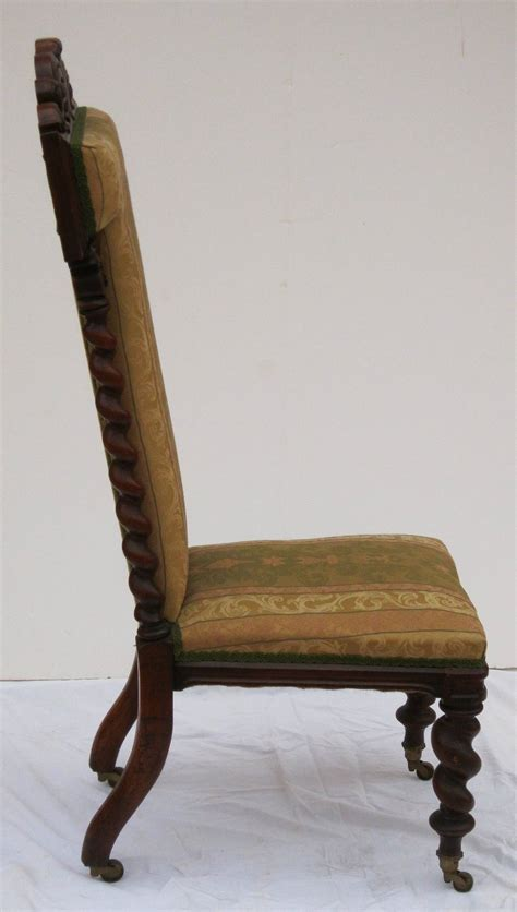 prayer chair of carved walnut for sale at 1stdibs