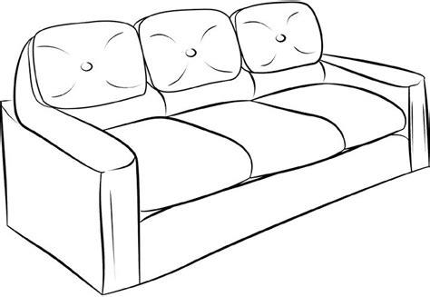 comment dessiner un canapé en perspective dessins de meubles à colorier