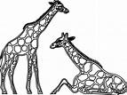 line drawing giraffe - Google Search   Giraffe art ...