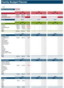 Household Budget Worksheet Excel Template Family Budget Planner Free Budget Spreadsheet For Excel