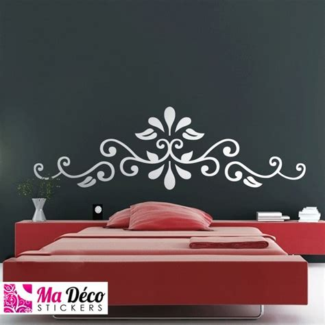 stickers tete de lit capitonnee sticker ornement t 234 te de lit cheap stickers baroque discount wall stickers madeco stickers