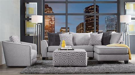 Black, Gray & Ivory Living Room Furniture & Decorating Ideas