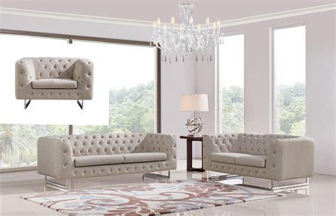 divani casa caswell modern beige fabric sofa set sofas