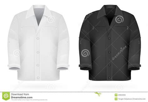 plain long sleeve jacket template stock vector image