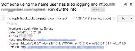 protecting wordpress site   wp login alerts plugin