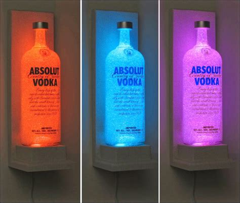Coloring Vodka by Absolut Vodka Wall Mount Vodka Color Changing Led Remote