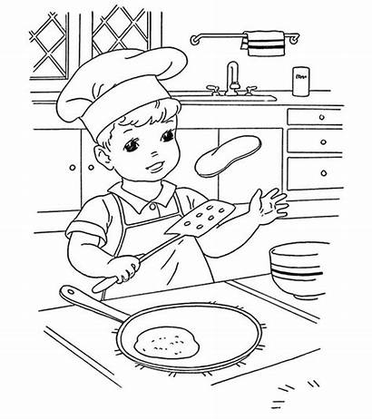 Pancake Coloring Pages Snacks Momjunction Ones Wonderful