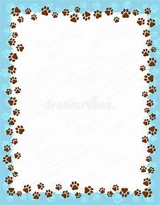 Paw prints border stock vector. Illustration of frame ...