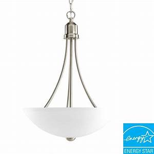 Progress lighting alexa collection light brushed nickel