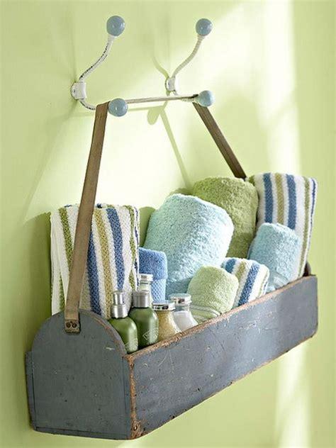 inspiring diy towel storage ideas