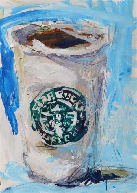 Coffee and cupcake original acrylic painting with bible verse. Pretty And Playful Paper Cup Painting - Bored Art