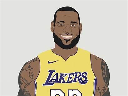 Lebron James Drawing Cartoon Lakers Draw Drawings