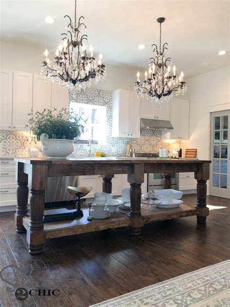 DIY Kitchen Island   Free Plans & How To Video   Shanty 2 Chic