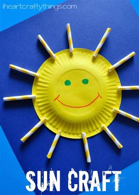 Paper Plate Sun Craft for Kids | Sun crafts, Preschool ...
