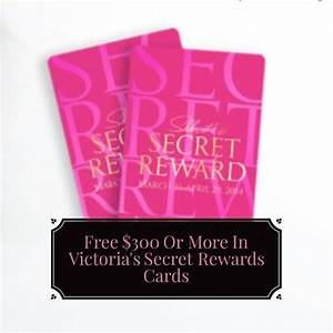 Earn $300 Or More In Free Victoria's Secret Rewards Cards ...